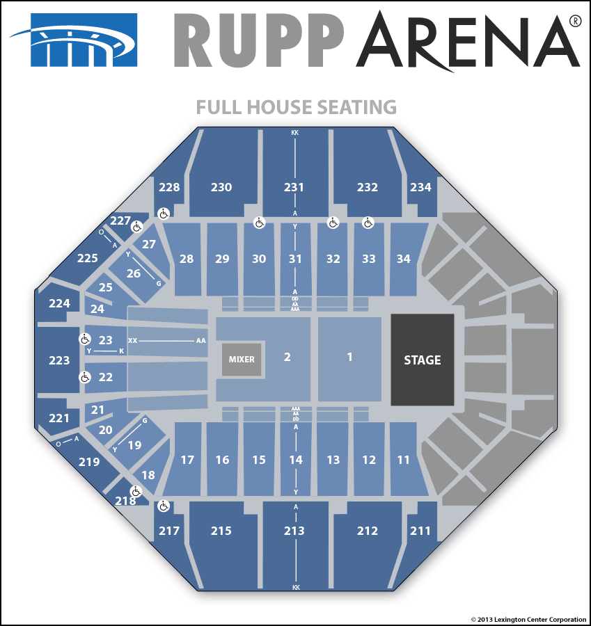 Seating Diagrams | Rupp Arena
