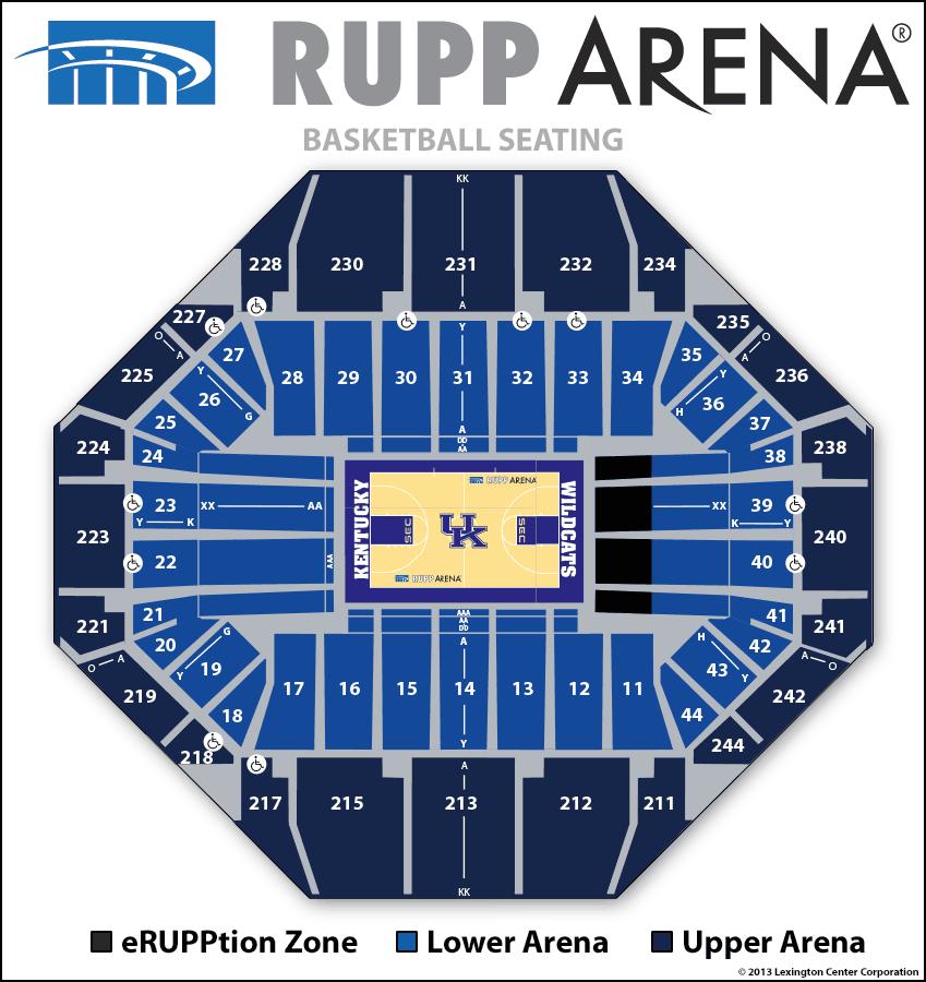 Seating diagrams rupp arena
